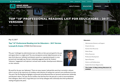 """Top 10"" Professional Reading List for Educators • 2017"
