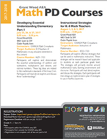 GWAEA Math PD Courses