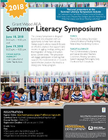 Grant Wood AEA Summer Literacy Symposium