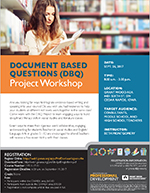 Document Based Questions (DBQ) Project Workshop Sept. 26, 2017