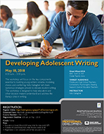 Developing Adolescent Writing, May 18, 2018