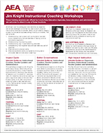 2018-2019 Jim Knight Instructional Coaching Workshops