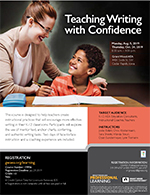 Teaching Writing with Confidence